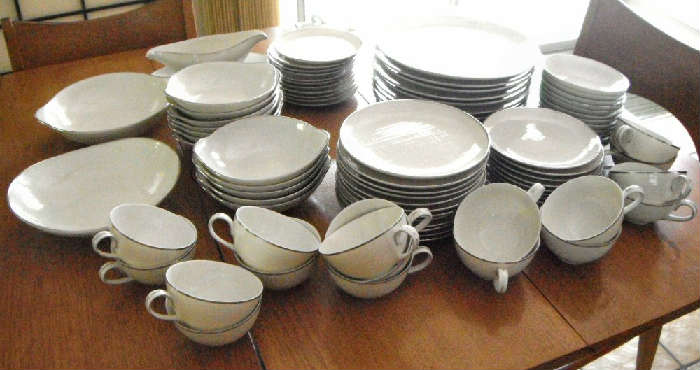Mid Century Modern Dishes from Japan.  Service for 12.