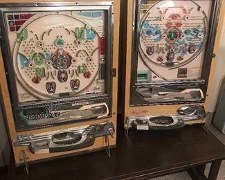 The 2 smaller Pachinco Machines
