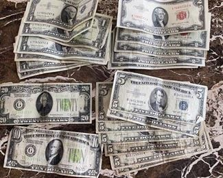 Silver certificates currency