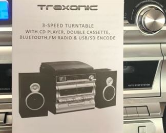 Trexonic TRX - 11BS Turntable,  CD player, Cassette player, Bluetooth, FM