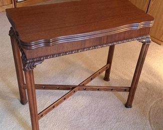 Antique Folding Game Table