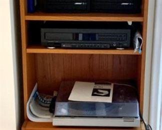 Danish Bookcase - Bose Speakers