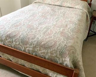Maple Bed Frame With Queen Size Sleep Number Mattress