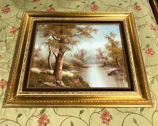 Vintage Oil Painting Signed by Artist, Irene Cafieri (Germany)