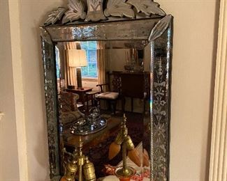 Pair of vintage Venetian mirrors.