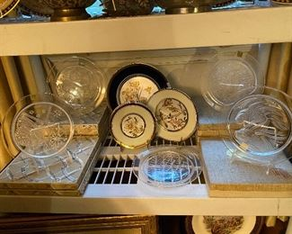 Lalique year plates.