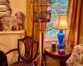 Hendryx period Art Deco copper & Brass bird cage.