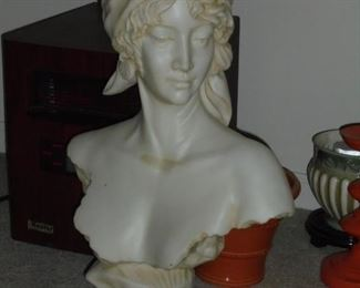 Large bust of woman