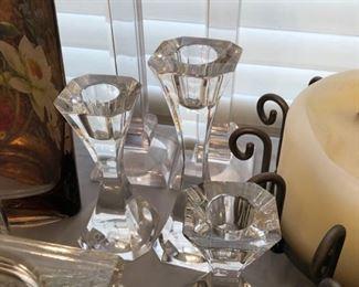 Villeroy & Boch crystal candlesticks
