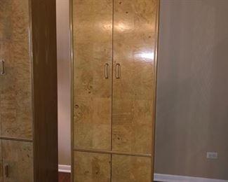 (2) burl wood storage cabinets.....