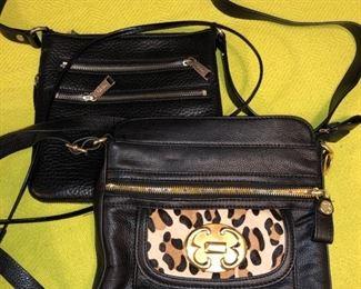 Cole Haan and Emma Fox cross body purses....