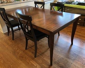 Dining table and 4 chairs from Crate & Barrel