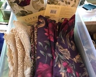 Table linens...
