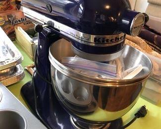 Cobalt blue KitchenAid mixer