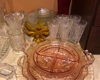 and depression glass!