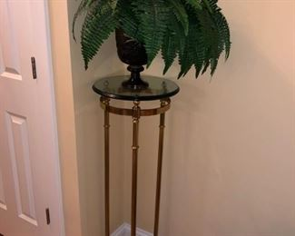 Brass/glass plant stand