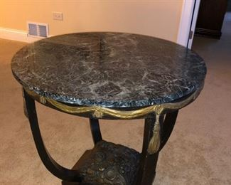 Occasional table with marble top......
