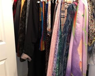 Women's clothing and tons of scarves