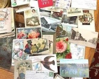 Vintage postcards - so many more not photographed!