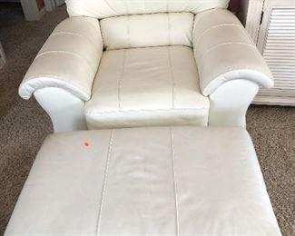 Club/Arm Chair with Ottoman - $90