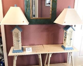 FOUR Southern Lifestyles Cottage White Occasional/Side Tables - $75 EACH