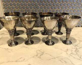 GEORG JENSEN STERLING SILVER CUPS