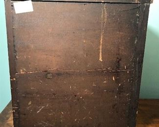ANTIQUE MINIATURE SIDE LOCKING HIGHBOY/JEWELRY BOX