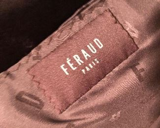 FERAUD WAIST LENGTH FUR COAT
