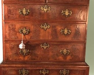 ANTIQUE CHIPPENDALE STYLE HIGHBOY CIRCA LATE 1700'S