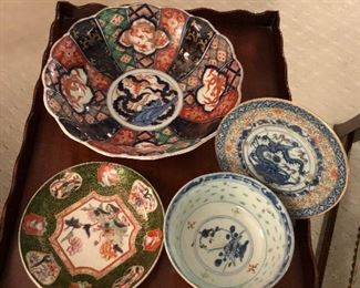 MANY CHINESE IMARI PIECES