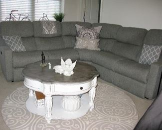 5 piece sectional, 3 sections are recliners with adj head rests.   BUY IT NOW  $ 795.00