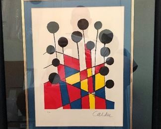 """MUSICAL NOTES"" ORIGINAL LIMITED EDITION LITHOGRAPH BY ALEXANDER CALDER, HAND SIGNED AND NUMBERED, EA ARTIST PROOF, WITH CERTIFICATE OF AUTHENTICITY, EXCELLENT CONDITION, FRAMED"