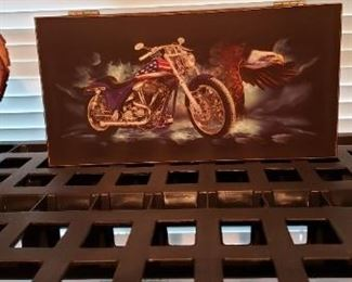 Box with motorcycle design
