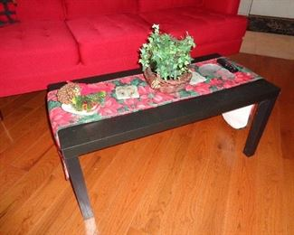 coffee table (we are still decorated for Christmas)