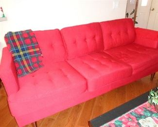 red traditional sofa