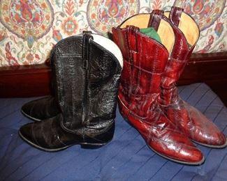 2 pair cowboy boots