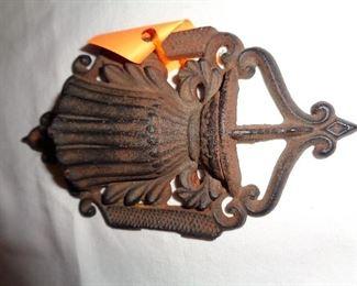 1860's cast iron match holder