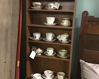 Countless tea cups and saucers