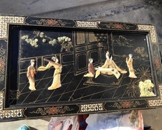 inlaid oriental folding table
