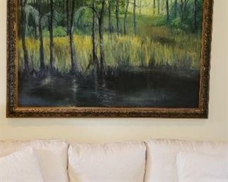 "Large Oil on Canvas Joe Taylor Painting  Signed- Famed local artist 66""×56"""