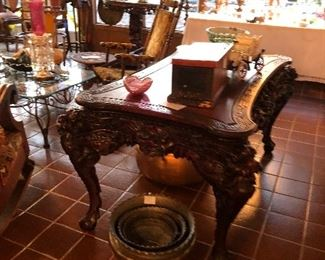 Reproduction carved Asian center table!! $795