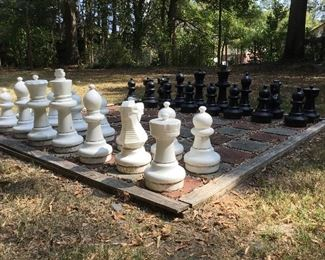 Giant yard chess set