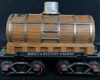Vintage JIM BEAM Bourbon Railcar Bottle w Stand