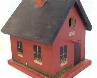 Folk Art a School House Bird House