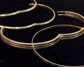 Lot 4 14K Gold Bangles & Lot 4 Fashion Bangels