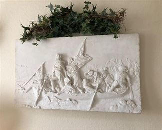 Cyrus Cobb circa 1880 Sculpture Washington crossing Delaware