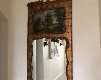 Trumeau mirror longer than it looks.