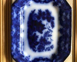 Flo blue platter