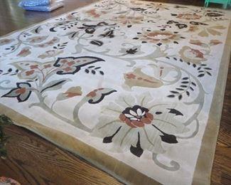 Floral Sunwash Beige Area Rug 7 ft. 10 in. x  10 ft. 10in.