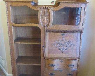 Victorian Oak Side by Side Secretary Desk